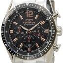 テクノス TECHNOS T1019TH クロノグラフ クォーツ ブラック×シルバー メンズ腕時計