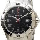 ウェンガー WENGER 70487 メンズ腕時計 ALPINE アルバイン ブラック/シルバー ミリタリー アウトドア 送料無料 新品