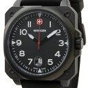 ウェンガー WENGER 72424 メンズ腕時計 エアログラフコクピット ブラック ミリタリー アウトドア 時計 送料無料 新品