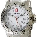 ウェンガー WENGER 72617 メンズ腕時計 マウンテイナー ホワイト/シルバー ミリタリー アウトドア 時計 送料無料 新品