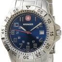 ウェンガー WENGER メンズ時計 マウンテイナー 72618 5400円以上で送料無料 新品ウェンガー WENGER 72618 メンズ腕時計 マウンテイナー ブルー/シルバー ミリタリー アウトドア 時計 送料無料 新品
