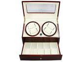 ワインディングマシーン DX4本巻 腕時計 時計ケース ウォッチワインダー ワインレッド 時計雑貨 送料無料