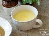 la reine ラ・レーヌスープカップスープボウル スープボール 持ち手付き フレンチスタイル 陶器 ナチュラル雑貨 デザイン雑貨 フランス風 日本製
