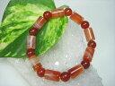 サードオニキス(赤縞メノウ)チューブカット+カーネリアンラウンド品質AAA11.8×8mm+Φ8±0.3mm