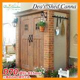 ディーズガーデン 物置 ディーズシェッド カンナ D70 サンプルカラー:オレンジ 南京錠施錠可能 ガーデン収納 deas