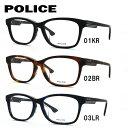 ポリス POLICE メガネ フレーム 眼鏡 度付き 度なし 伊達 アジアンフィット VPL662J 53サイズ ウェリントン型 UVカット 紫外線 【国内正規品】