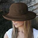ハット レディース UVカット 帽子(女性用) レデイース ladies 夏 uv 帽子 - シルエットスタイル カラー:チョコ レディース ハット ※紫外線カット(UVカット)最高値UPF50+ 母の日 ギフト