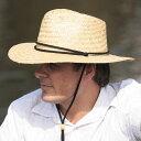 麦わら帽子 つば広 ストローハット メンズ UVカット 帽子 男性用 uv 農作業 ガーデニング 釣り 日よけ おしゃれ 紫外線 春 夏 麦藁帽子 麦わら 帽子 登山 58cm / 60cm