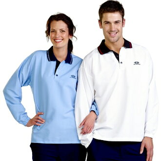 Leisure Wear - Adults Woven Polo L/S UPF50+ EXCELLENT PROTECTION which blocks >97.5% of the sun's UV radiations giving excellent protection