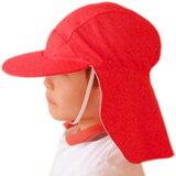防紫外线帽子【从紫外线对策发达国家澳大利亚直接进口!】 防紫外线 帽子(孩子用)- 儿童 帽子(赤白帽子)※防紫外线(防紫外线)最高价的UPF50+[【レビューでメール便可】UVカット 帽子(子供用) KIDS こども - キッ
