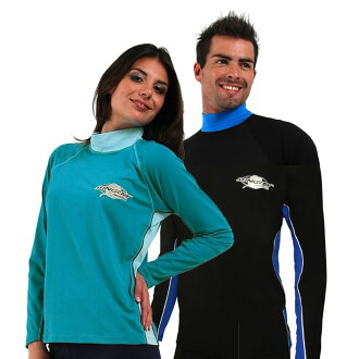 UV 切泳裝男裝女裝中性 (中性) 皮疹掉以輕心長袖 * 紫外線 (UV) 最大值為 UPF 50 +