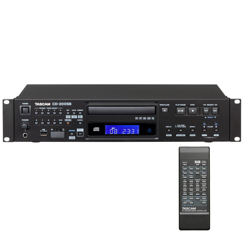 TASCAM CD-200SB 安心の日本正規品!SD/SDHC/USBメモリ/CD対応業務用プレーヤー