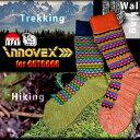 【グリーン/23-25cm】innovex レディース 山ガールソックス ウール50%混 日本製 23〜25cm 14A-056T