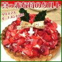 真っ赤な苺のタルト(4号)クリスマスケーキにも!帰省みやげ ギフトにも 送料無料