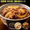 【吉野家】3種6食お試しセット(牛丼の具×2パック、豚丼の具...