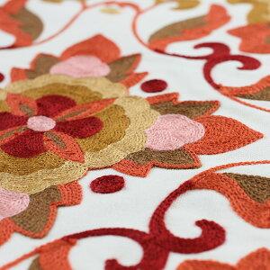 コード刺繍*クッションカバー(縫い合わせ仕様)45×45cm1枚【背当てカバー】コットン/綿/カラフル/かわいい/ナチュラル/洗濯可能/あす楽