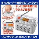 手元スピーカー機能付3バンドラジオ( テ...