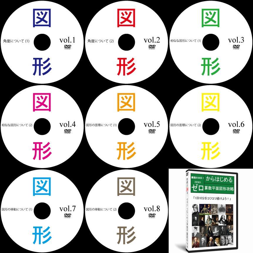 中学受験算数平面図形DVD全8巻