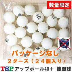 TSPアップボール40+練習球2ダース/パッケージなし