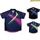 【NEW】ヴィクタス(VICTAS) 卓球ユニフォーム V-SW035 031458 卓球ゲームシャツ ユニフォーム 男女兼用 卓球ウェア