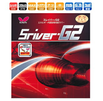 Slaver G2 Butterfly table tennis rubber energy integrated back soft 05550 table tennis equipment