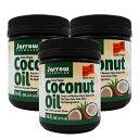 ジャローフォーミュラズ オーガニック エキストラバージンココナッツオイル 473 ml 3個セットOrganic Extra Virgin Coconut Oil 16 oz 3set