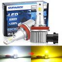 【令和2年最新モデル】SUPAREE H8/H11 HB4 LEDフォグランプ 2色切り替え カラーチェンジ 角度調整可能 ホワイト(6000K)/イエロー(30..