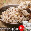 雑穀米 もち麦たっぷり16種雑穀米 1kg(500g×2) スーパーフード もち麦 チアシード キ