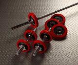 IROTEC(アイロテック)ラバーバーベルダンベル30KGセット/ダンベル・ベンチプレス・筋トレ・トレーニング器具・トレーニングマシン・ダイエット・鉄アレイ・ホームジム・マルチジム
