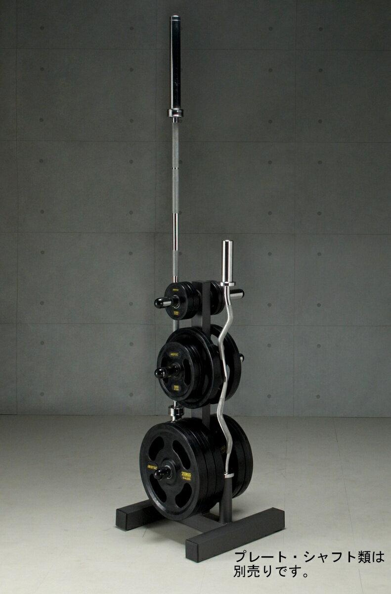 IROTEC(アイロテック)オリンピックプレートラック/シャフトとプレートを同時収納。ダンベル・バーベル・ベンチプレス・筋トレ・トレーニング器具のスーパースポーツカンパニー