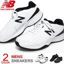 ニューバランス New Balance メンズ スニーカー ウォーキングシューズ ランニングシューズ 運動靴 黒 白 4E MX409