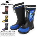 スノーブーツ ブーツ キッズ スパイク 長靴 ジュニア スーパースター J67RSP レインブーツ