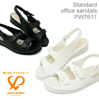 ピュアウォーカー stylish and cheap nurse Sandals backhand type women nurse shoes Office Sandals pure walker BASIC PW7601