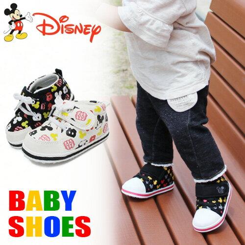 ミッキーマウス キッズ スニーカー ベビーシューズ 靴 男の子 女の子 ミニーマウス DS…...:superfoot:10001301