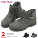 トパーズ ショートブーツ レディース ローヒール 防寒 防滑 靴 アンクルブーツ TOPAZ TZ-4448