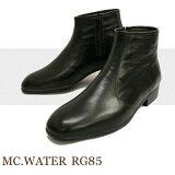 措施一雨天!雨鞋的时尚外观和工作完全防水鞋水★苹果里先生的RG - 85男子下班[メンズの通勤レインブーツ 紳士靴 レインシューズ マックウォーター 完全防水革靴 RG-85]