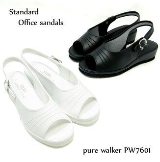 ピュアウォーカー stylish and cheap nurse Sandals backhand type women nurse shoes Office Sandals pure walker BASIC PW7601