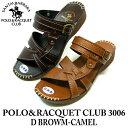 サンダル レディース ぺたんこ 歩きやすい つっかけ かわいい やわらかい サンタバーバラ ポロ&ラケットクラブ 3006