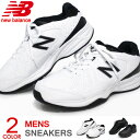 ニューバランス メンズ スニーカー ウォーキングシューズ ランニングシューズ 運動靴 黒 白 4E New Balance MX409