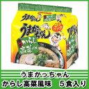 【6213】ハウス食品うまかっちゃん博多からし高菜風味5食入り【2ケース(12個)まで送料600円】【北海道は500円加算となります】