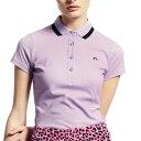 J.LINDEBERG ゴルフウエア レディース 襟ラインポロシャツ 072-22347-081 (レディース)