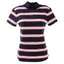 ビバハート(VIVA HEART) ゴルフウエア レディース ボーダーモックネックシャツ 012-22442-098 (レディース)