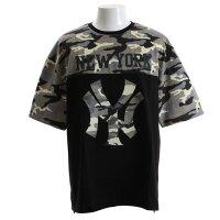 MAJESTIC ビッグNY カモフラージュ 半袖Tシャツ MM01-NYK-8S13-BLK (Mens)の画像
