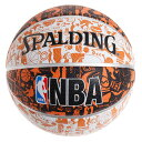 スポルディング(SPALDING) バスケットボール 5号球 (小学校用) ジュニア グラフィティ オレンジ ラバー NBAロゴ入り 83-360J (Jr)