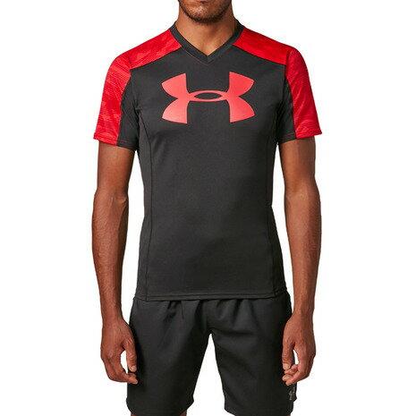 アンダーアーマー(UNDER ARMOUR) ラグビープラクティスTシャツ #1312828 BLK/RED/RED RG (Men's)