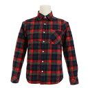 エルケクス(ELKEX) フランネルチェックシャツ 863EK6CG7576NVXRD (Men's)