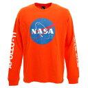 ビーワンソウル(B ONE SOUL) Tシャツ メンズ 長袖 NASA ミートボール 9770903-ORG (メンズ)