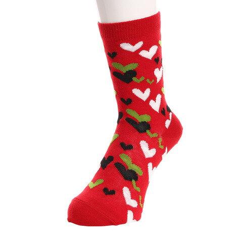 エーアールジー(arg) Colorful hearts ソックス AG83RYS1077 RED (Lady's)