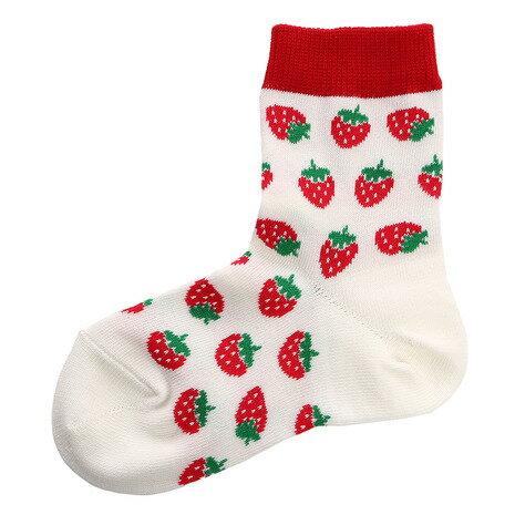 エーアールジー(arg) Strawberrys ソックス AG83RYS1084 WHT (Jr)