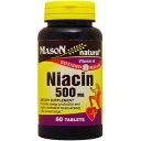 ナイアシン(ビタミンB3) 500mg (タイムリリース型) 60粒[サプリメント/健康サプリ/サプリ/ビタミン/ナイアシン/栄養補助/栄養補助食品/アメリカ/タブレット]